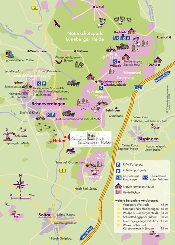 Karte Lüneburger Heide Und Umgebung.Camping Park Lüneburger Heide Familienfreundlich Campen