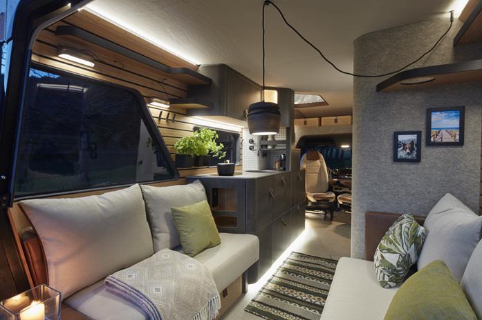 Modern und wertig: der Innenraum des Concept Car VisionVenture